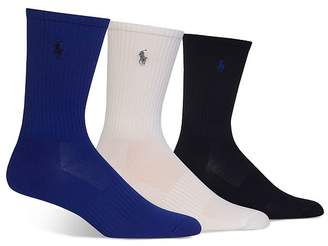 02a0745f4404 Polo Ralph Lauren Shiny Tech Crew Socks, Pack of 3