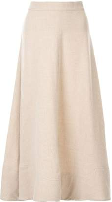Co flared midi skirt