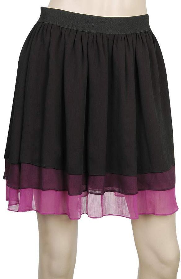 Tiered Chiffon Skirt