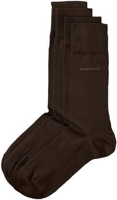 HUGO BOSS Men's 2 Pair Plain 75% Cotton Socks 8.5-11 Men's