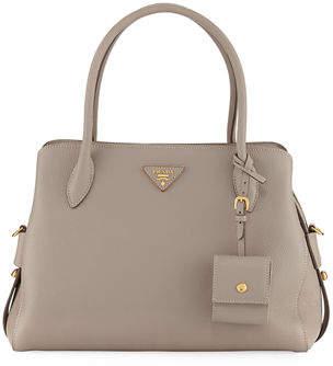 Prada Medium Vitello Daino Top-Handle Bag