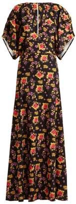 Dodo Bar Or - Beverly Floral Print Crepe Dress - Womens - Black Multi