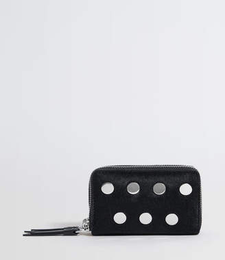 AllSaints Sid Leather Card Holder