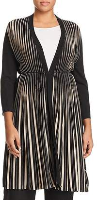 Marina Rinaldi Migliore Long Pleated Cardigan