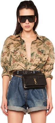 Saint Laurent Tropical Print Oversized Shirt