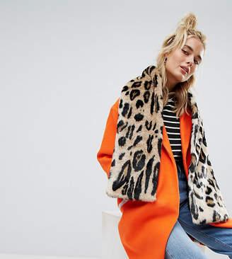 Urban Code Urbancode Leopard Print Faux Fur Scarf