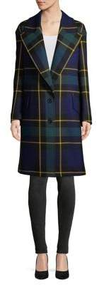 Burberry Wool-Blend Plaid Coat
