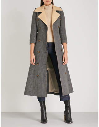 KHAITE Charlotte checked wool trench coat