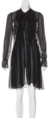 The Kooples Pleated Sheer Dress