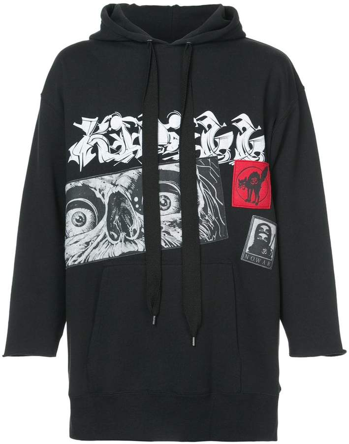 Kidill graphic print hoodie