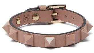 Valentino Rockstud Leather Bracelet - Womens - Pink