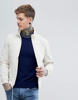Fred Perry Lightweight Tonal Sports Jacket In Off White