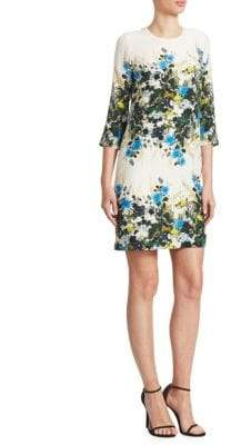 Erdem Emma Floral-Print Mini Shift Dress