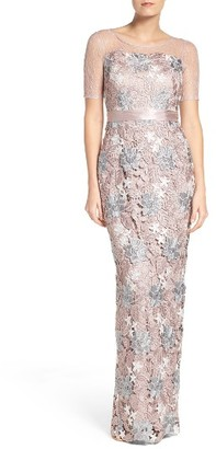 Women's Adrianna Papell Multicolor Guipure Lace Column Gown $279 thestylecure.com