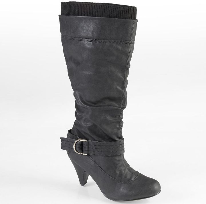 Journee Collection shannon slouch midcalf boots - women