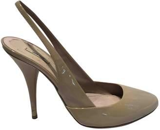 Miu Miu Beige Patent leather Heels