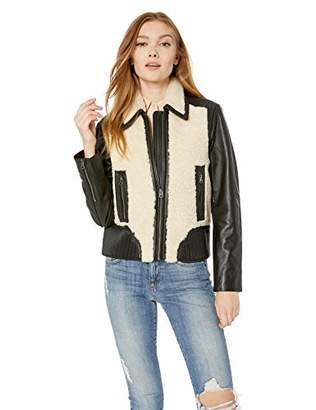 Lucky Brand Women's Sherpa Leather Jacket