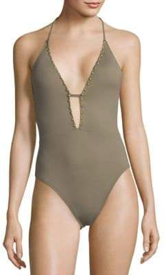 One-Piece Studded Swimsuit