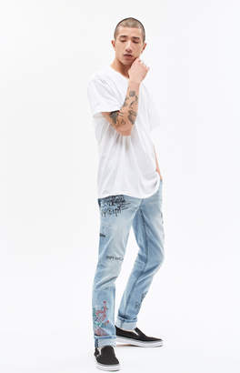 Young & Reckless Griffon Art Work Skinny Jeans