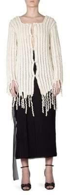Loewe Wool Crochet Cardigan