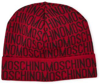 Moschino Allover Logo Knit Hat