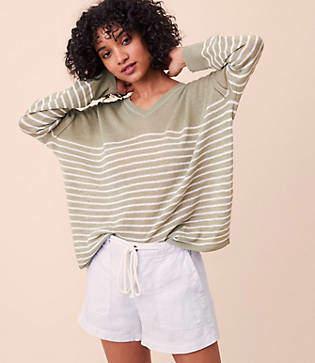 Lou & Grey Striped Slouchy Sweater