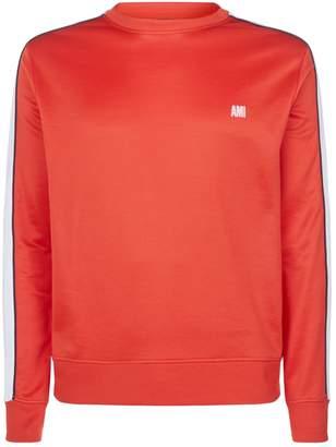 Ami Paris Stripe Panel Sweatshirt