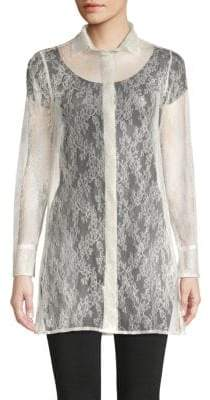 Valentino Lace Silk Shirt