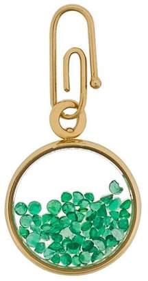 Aurelie Bidermann Chivoir emeralds pendant/charm