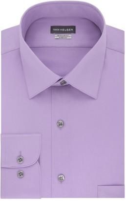 Van Heusen Men's Regular-Fit Stretch Sateen Dress Shirt