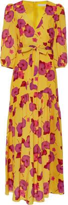Borgo de Nor Salma Floral-Print Crepe Gown