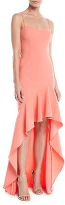 LIKELY Vita Ruffle High-Low Slip Gown