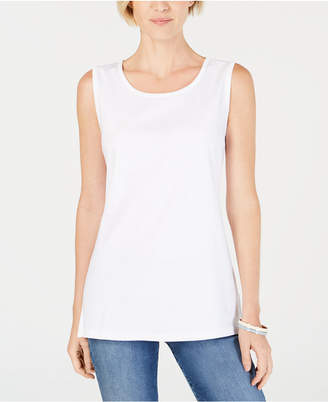 Karen Scott Cotton Tunic Tank Top