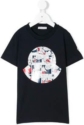 Moncler cartoon logo print T-shirt