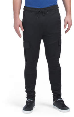 French Terry Moto Ruched Joggers
