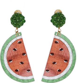 Mercedes Salazar Watermelon Clip On Earrings