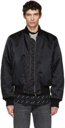 Balenciaga Black Campaign Bomber Jacket