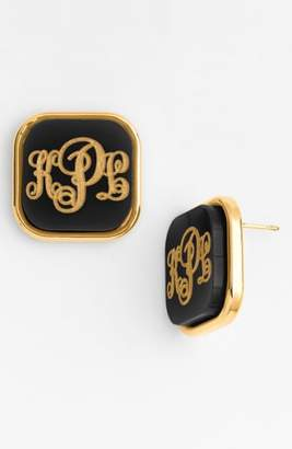 Moon and Lola 'Vineyard' Personalized Monogram Stud Earrings