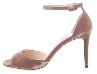 Jimmy Choo Annie Velvet Sandals