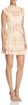 AQUA Lace Mock Neck Dress - 100% Exclusive $98 thestylecure.com