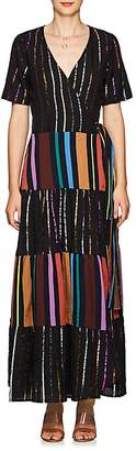 Ace&Jig Women's Ellis Striped Cotton Wrap Maxi Dress