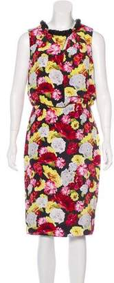 Magaschoni Floral Silk Dress
