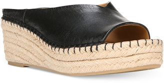 Franco Sarto Pine Slip-On Espadrille Wedge Mules $79 thestylecure.com