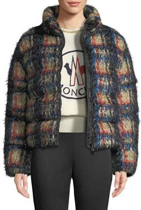 Moncler Plaid Down-Fill Coat