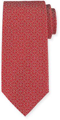 Charvet Tonal Floral-Print Silk Tie