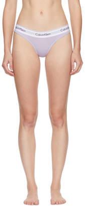 Calvin Klein Underwear Purple Modern Thong