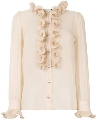 Gucci frill detail blouse