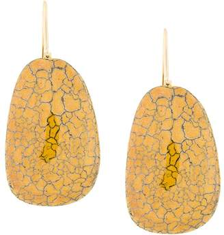 Isabel Marant cracked effect earrings