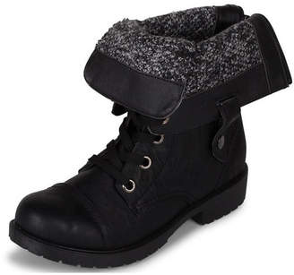 Wanted Fold-Over Combat Bootie