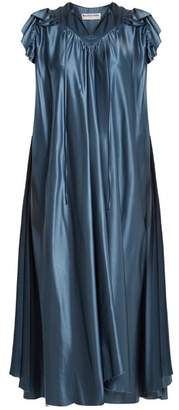 Balenciaga Flou Dress - Womens - Blue